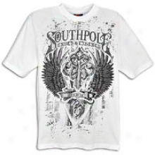 Southpole Premium T-shirt With Caviar Beads - Mens - White