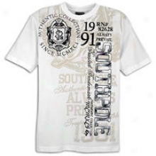 Southpole Preppy Screen&flock S/s T-shirt - Mens - White