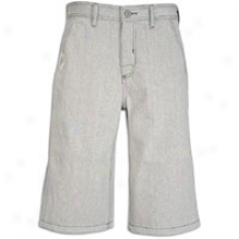 Southpole Raw Denim Zip Pocket 15in Short - Mens - Raw White