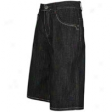 Southpole Shiny Streaky Raq Denim W/ Pkt Embrsry - Mens - Rinse Black