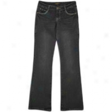 Southpole Signature Fit Lo Rise Boot Cut Jean - Womens - Black/royal