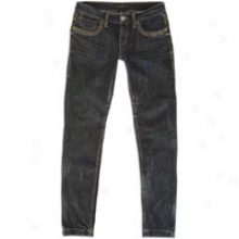 Southpole Signature Fit Low Rise Skinny Jean - Womens - Pewter Sky