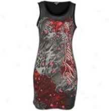 Southpoke Sleeveless Fitted Drrss - Womens - Dark Grey