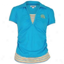 Southpole Solid 2-fer Polo - Womens - Pacific Blue