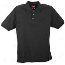 Soutnpole Solid Polo With 3d Embroidery - Menq - Black