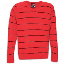 Southpole Stripe L/s Sweater - Mens - Red