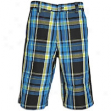 Southpole Twill 13.5in Plaid Abrupt - Mens - Marine Blue