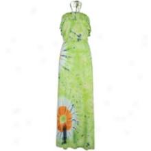Southpole Tye Dye Tube Dress - Womens - Lime Green
