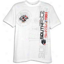 Southpole Vertical Graphic Hd Print S/s T-shirt - Mens - White