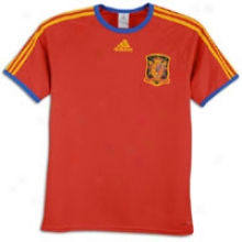 Spain Adidas National Team Replica S/s T-shirt - Mens - Red/ocllegiate Gold