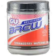 Sports Street Gu Brew Recovery 2lb Can - Strawberry Watermelon