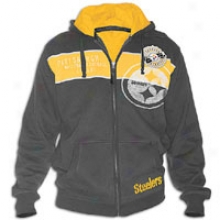 Steelers G-iii Nfl Precision Full-zip Hkodie - Mens - Black