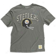 Steele5s Reebok Nfl Buttonhook T-shirt - Mens - Wshed Black