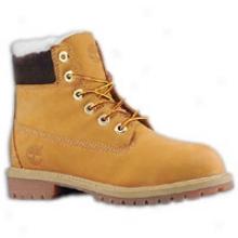 "Timberland 6"" Shearling Boot - Big Kids - Butter Pecan"