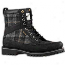 Timberland Repaired Market 9 Eye Moc Toe Boot - Mens - Black/plaid