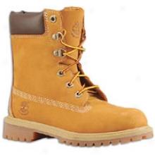 "Timberland Yth 8"" Waterproof Boot - Big Kids - Wheat Nubuck"