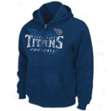 Titans Nfl Touchback Full-zip Hoodie - Mens - Navy