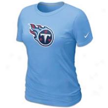Titans Nike Nfl Basic Logo T-shirt - Womens - Border