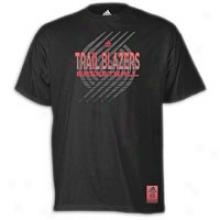 Trail Blazers Adidas Nba Vibe Stealth T-shirt - Mens - Black