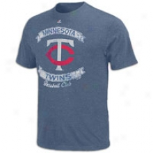Twins Majestic Mlb Cooperstown Legendar6 T-shirt - Mens - Navy Heather
