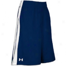 "Under Armour 10"" Practice Short - Mens - Midnight Navy/white"