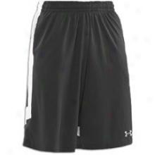 """Under Armour 12"""" Basketball Short - Mens - Black/white/aluminum"""