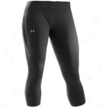 "Underr Armour Allseasongear 20"" Capri - Womens - Black"