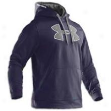 Under Armour Armour Fleece Big Logo Hoodie - Mens - Midnight Navy/true G5ey Heather
