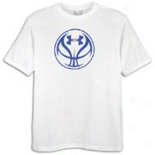 Under Armour Bball Lockup T-shirt - Mens - White/royal
