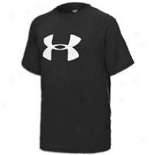 Under Armoru Big Logo Tech S/s T-shirt - Big Kids - Black/white