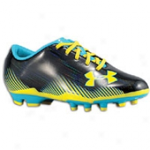 Under Armour Blur Challenge Ii Fg - Big Kids - Blavk/cap5i/sun Bleached