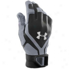 Under Armour Cage Iv Batting Gloves - Big Kids - Black/steel