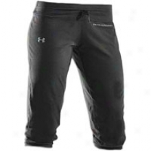 Under Armour Charged Cotton Capri - Womens - Black/graphite