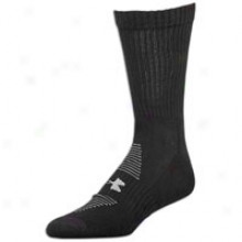 Under Armour Charged Cotton Crew 2-pack Socks - Mens - Black