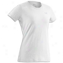 Under Armour Charged Cotton Crew T-shirt - Womens - White/aluminum