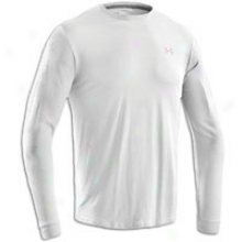 Under Armour Charged Cotton L/s T-shirt - Mens - White/aluminum