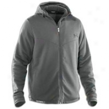 Under Armour Charged Cotton Sherpa Fleece Fz Hoodie - Mens - Charcoal/black