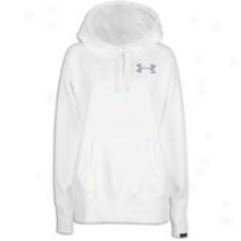 Under Armour Charged Cotton Storm Fleece Hoodie - Womens - White/steel