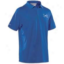 Under Armour Coldblack Outline Logo Golf Polo - Mens - Moon Shadow/silver