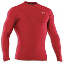 Under Armour Coldgear Compression Crew - Mens - Red/white