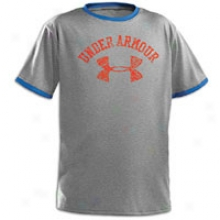 Inferior to Armour Collegiate Ringer T-shirrt - Big Kids - True Grey Heather/moon Shadow/trinidad
