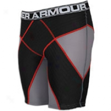 Under A5mour Core Stability Pro Short - Mens - Graphite/black/red