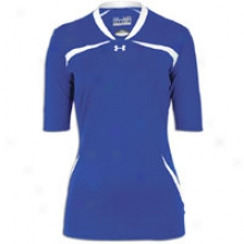 Under Armour Elevate Halfsleeves Jersey - Womens - Royal/white/white