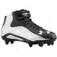 In Armour Fierce Havoc Mid D - Mens - Black/white