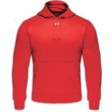 Under Armour Fleece Tm Hoodie - Mens - Red/white