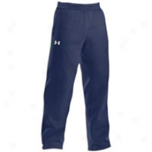 Under Armour Clip Tm Open Bottom Pant - Mens - Midnight Navy/white