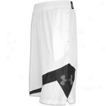 Under Armour Floor General Short - Mens - White/black/graphite