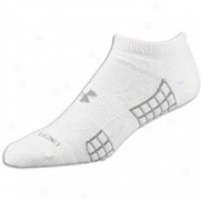 Subordinate to Armour Heatgear 3 No Show Sock 2-pack - Mens - White