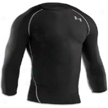 Under Armour Heatgear 3/4 Sleeve Compression Top - Mens - Black/white