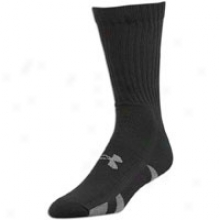 Under Armour Heatgear Crew 4 Pack Socks - Mens - Black